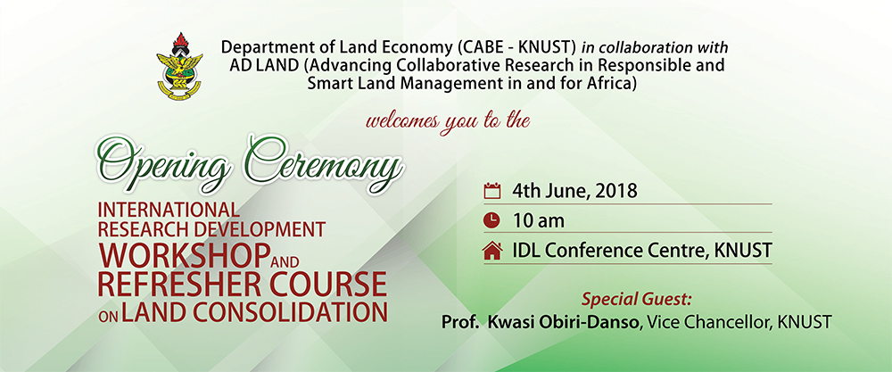 International Research Development Workshop & Refresher Course on Land Consolidation
